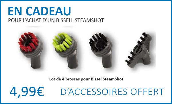 Cadeaux pour l'achat d'un Bissell SteamShot